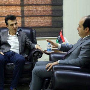 معيتيق يناقش مع السفير الإيطالي حماية المواقع الأثرية الليبية