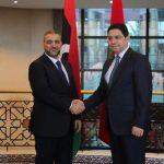 المشري يلتقي وزير الخارجية المغربي ويبحث معه العلاقات الثنائية بين البلدين