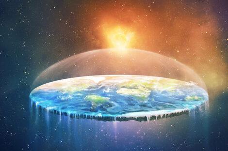 نظرية الأرض المسطحة