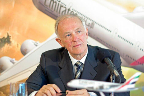 تيم كلارك رئيس شركة طيران الإمارات