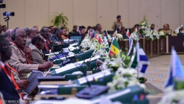 رؤساء أركان دول التحالف الإسلامي في أول اجتماع لهم بالرياض