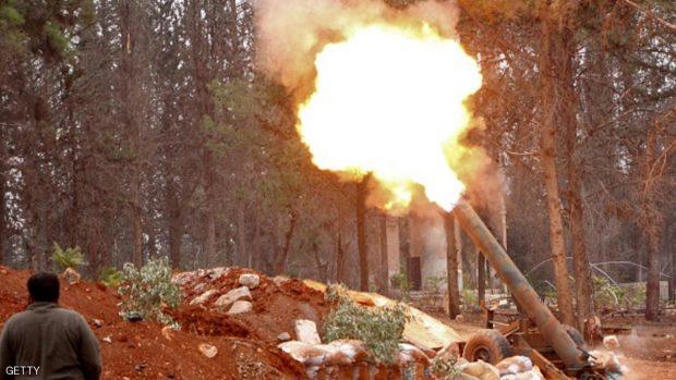 قصف المعارضة السورية على الأحياء الغربية من حلب