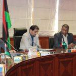 اجتماع وزير المالية المفوض مع مجلس إدارة الشركة الليبية الأفريقية للطيران القابضة
