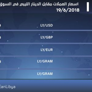 انخفاض طفيف في أسعار العملات الأجنبية والمعادن في السوق الليبية اليوم الثلاثاء
