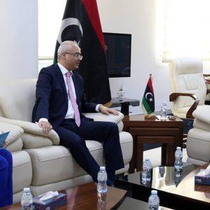 «عماري» يبحث مع سفير تركيا لدى ليبيا ملف الجرحى وعودة الخطوط التركية