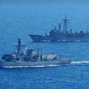 تدريب عسكري بحري مشترك بين مصر وبريطانيا
