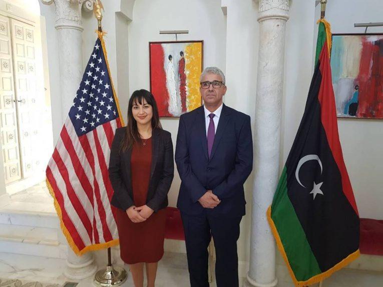 باشاغا والسفيرة الأمريكية