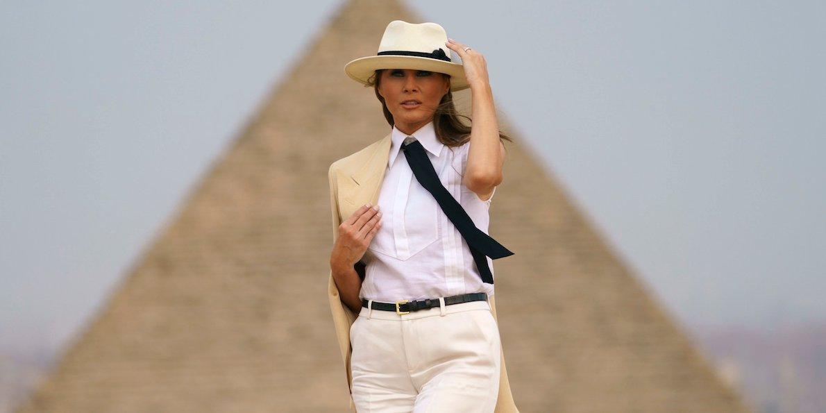 ميلانيا ترامب القاهرة