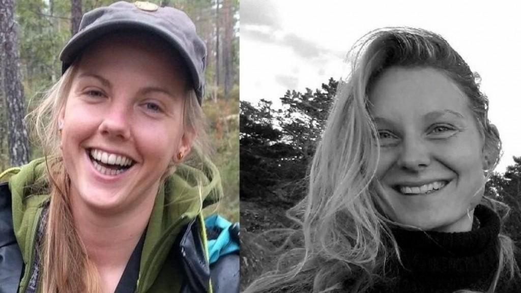 الطالبتان الدنماركية لويزا فيسترغر يسبرسن والنروجية مارين أولاند