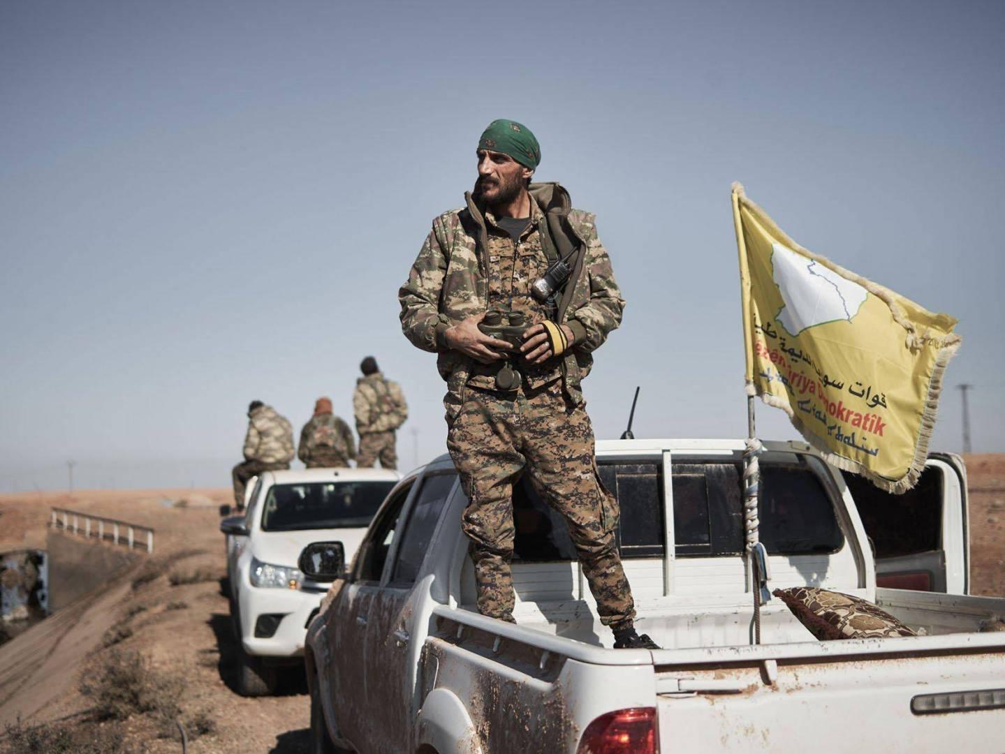 """قُوات سوريا الدِيمقراطية تُعلن: نَخوض «آخر مَعركة »مع """"داعش"""" شمال سُوريا"""