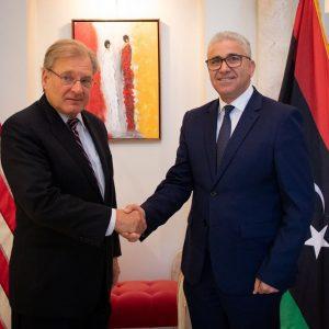 «باشاغا» يبحث مع السفير الأمريكي سُبل إنهاء الصراع في طرابلس