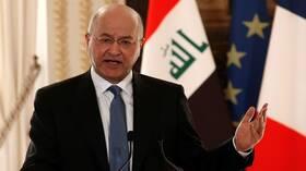 الرئيس العراقي.. يلوح بالاستقالة جراء ضغوط قوى مقربة من إيران