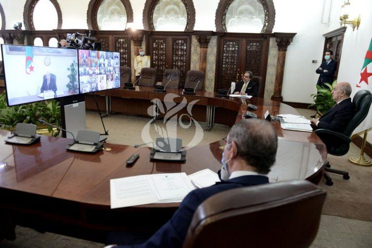 الرئيس الجزائري يدعو لقرار أممي يُوقف الأعمال العدائية في العالم