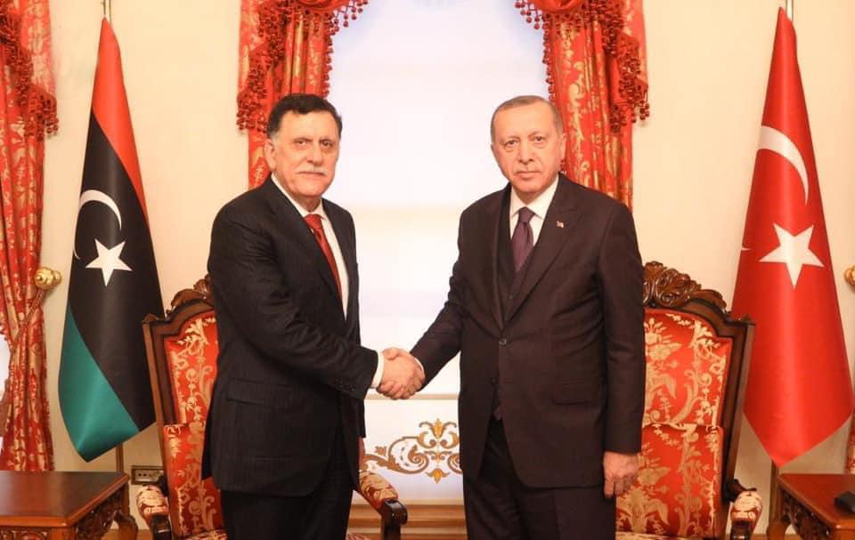 «السراج» يبحث مع الرئيس التركي خطوات تنفيذ مذكرتي التفاهم بين البلدين
