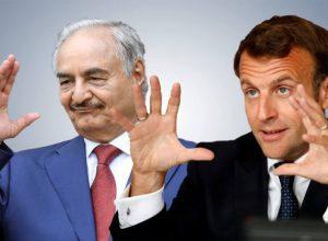 الرئيس الفرنسي يتنصل من دعمه لحفتر