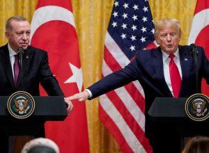 «أردوغان» يتفق مع نظيره الأمريكي على العمل سوياً لضمان استقرار ليبيا