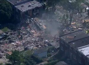 انفجار قوي بمدينة بالتيمور الأمريكية يُسوي المنازل بالأرض