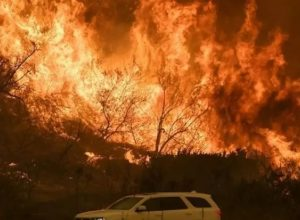 حريق يجبر الآلاف السكان على ترك منازلهم بجنوب كاليفورنيا
