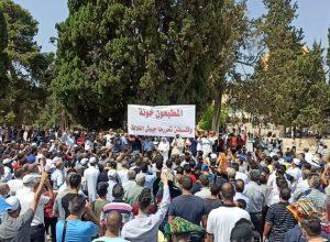 الآلاف يُؤدون صلاة الجمعة ووقفة مناهضة للتطبيع في الأقصى المُبارك