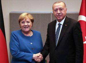 «أردوغان» يبحث مع المستشارة الألمانية خلافات شرق المتوسط