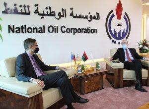 مؤسسة النفط تبحث أوجه التعاون مع الشركات الألمانية