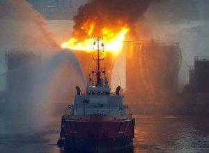انفجار ناقلة نفط روسية في بحر «آزوف»