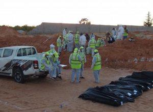 انتشال أكثر من 74 جثة من المقابر الجماعية في ترهونة
