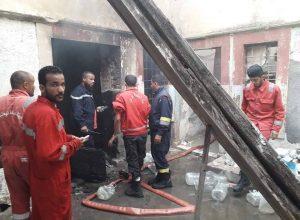 إخماد حريق بمنزل في شارع ميزران والعثور على جثة بداخله