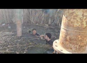 فيديو.. انتشال جثة طفل رمته أمه في نهر دجلة بالعراق