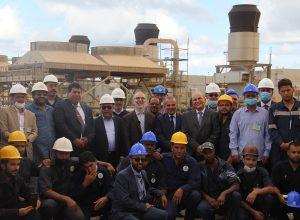 مؤسسة النفط تتفقد مواقع الإنتاج بالبريقة