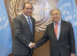 «غوتيريش» يُثمن دور الجزائر ومساهمتها في تسوية الأزمة الليبية