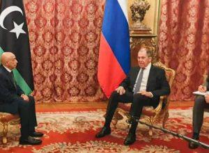 عقيلة صالح يصل العاصمة الروسية موسكو
