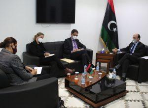 الرئاسي يبحث مع السفارة الألمانية سُبل دعم استحقاق 24 ديسمبر 2021