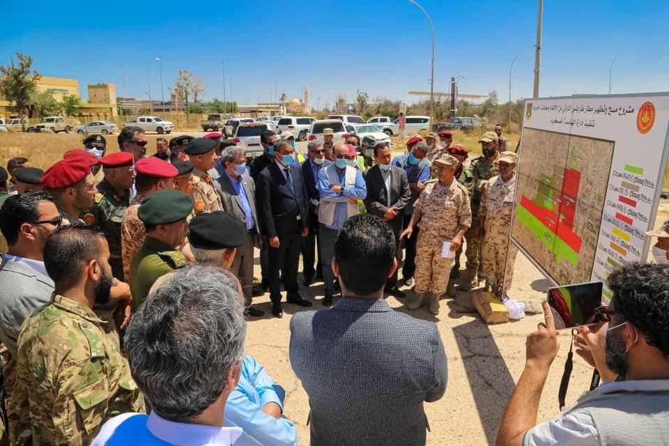 مشروع مسح وتطهير مطار طرابلس الدولي من الألغام ومخلفات الحرب