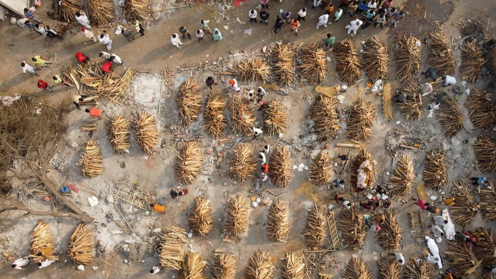 الهند.. ارتفاع قياسي في عدد الوفيات بكورونا
