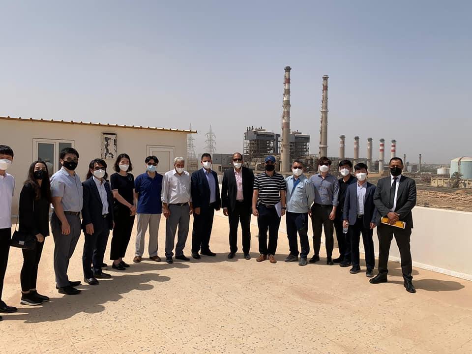 وفد كوري حكومي يتفقد محطة كهرباء غرب طرابلس