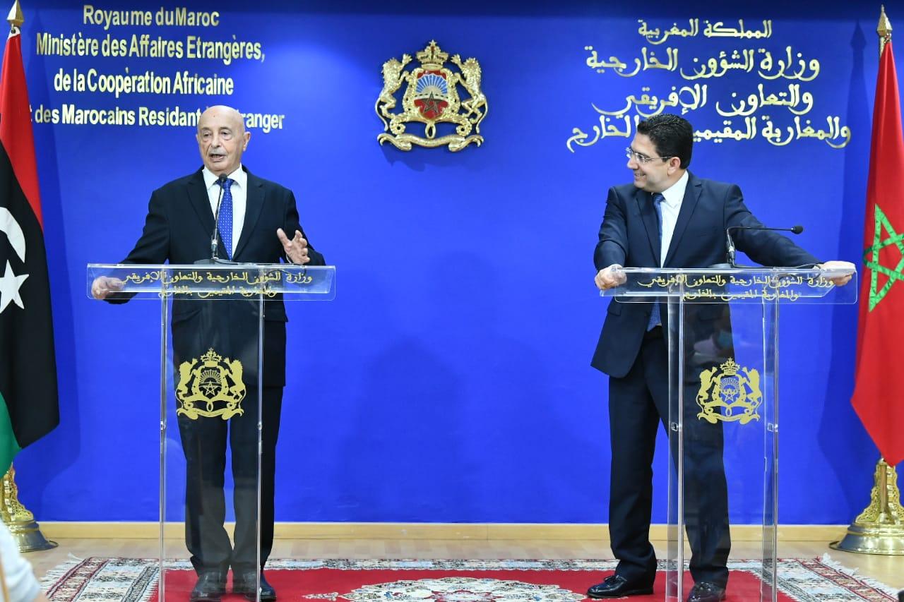 «عقيلة صالح» يُؤكد من المغرب على أهمية انتخابات ديسمبر في حل الأزمة