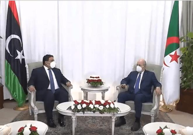 الرئيس الجزائري يستقبل رئيس المجلس الرئاسي