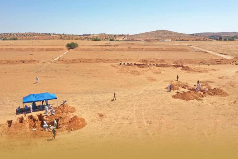 صور.. انتشال 12 جثة من مقابر جماعية جديدة في ترهونة