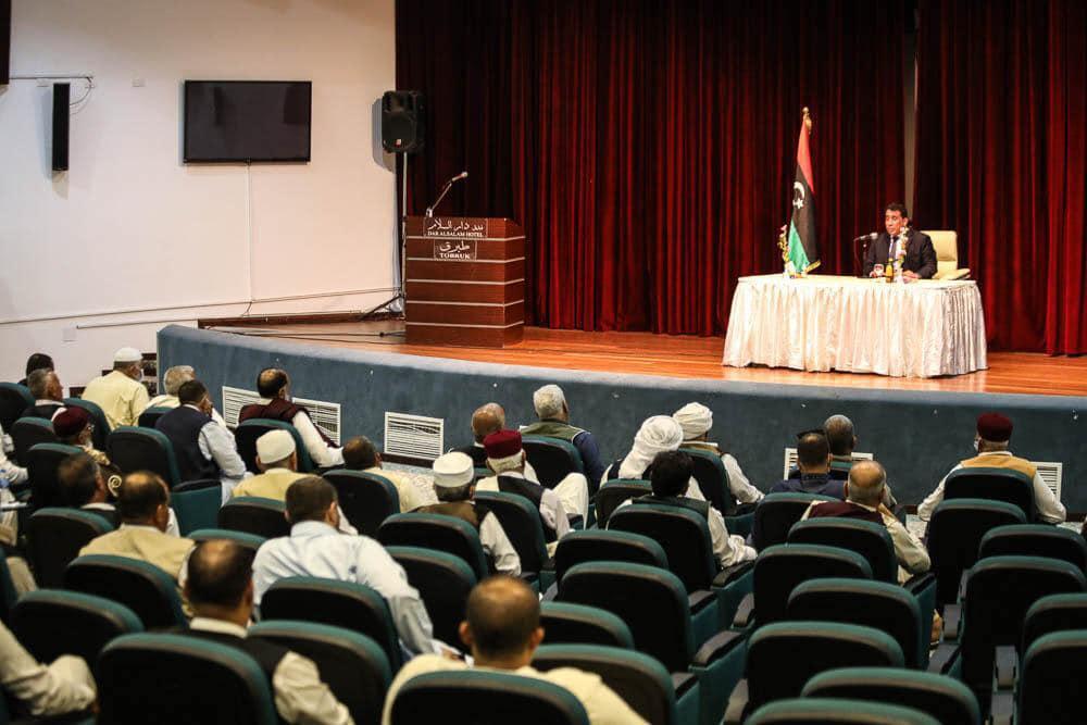 رئيس المجلس الرئاسي يلتقي أعيان وحكماء البطنان
