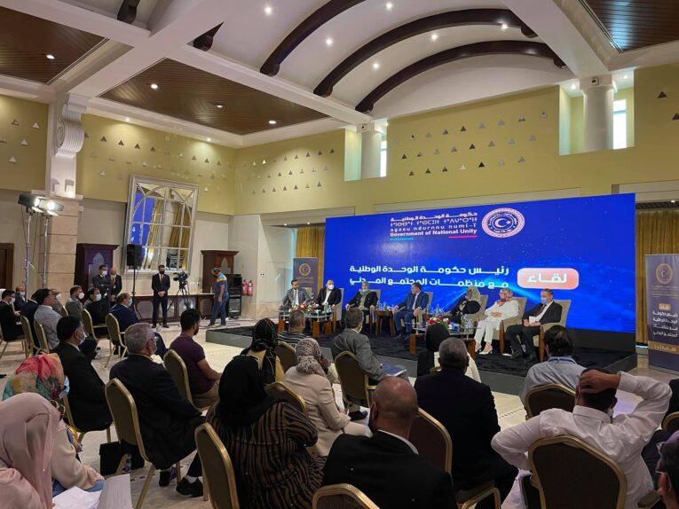 «الدبيبة» يلتقي ممثلي منظمات المجتمع المدني
