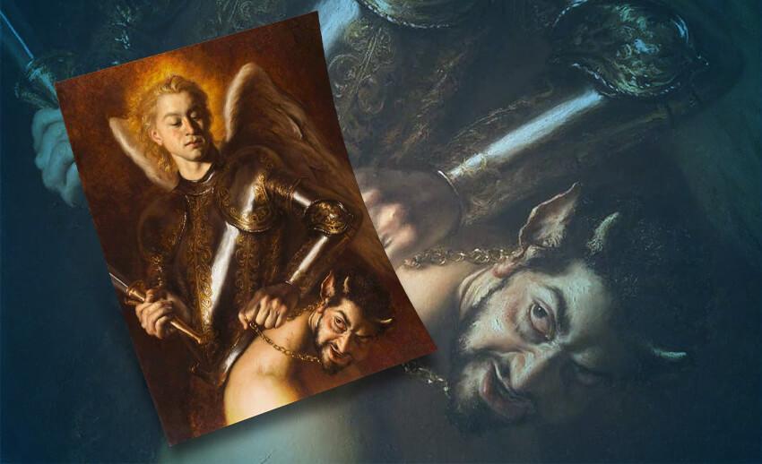 بن زايد والشيطان.. لوحة فنية تُشعل مواقع التواصل الاجتماعي