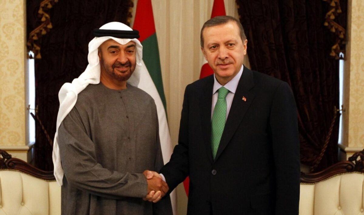 اتصال هاتفي بين الرئيس التركي وولي عهد أبوظبي