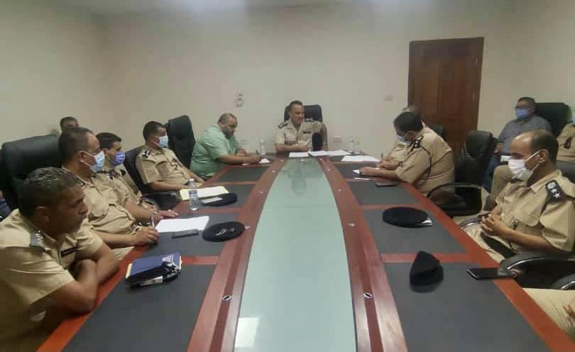 مدير أمن الجفارة يستعرض الأوضاع الأمنية بالمنطقة