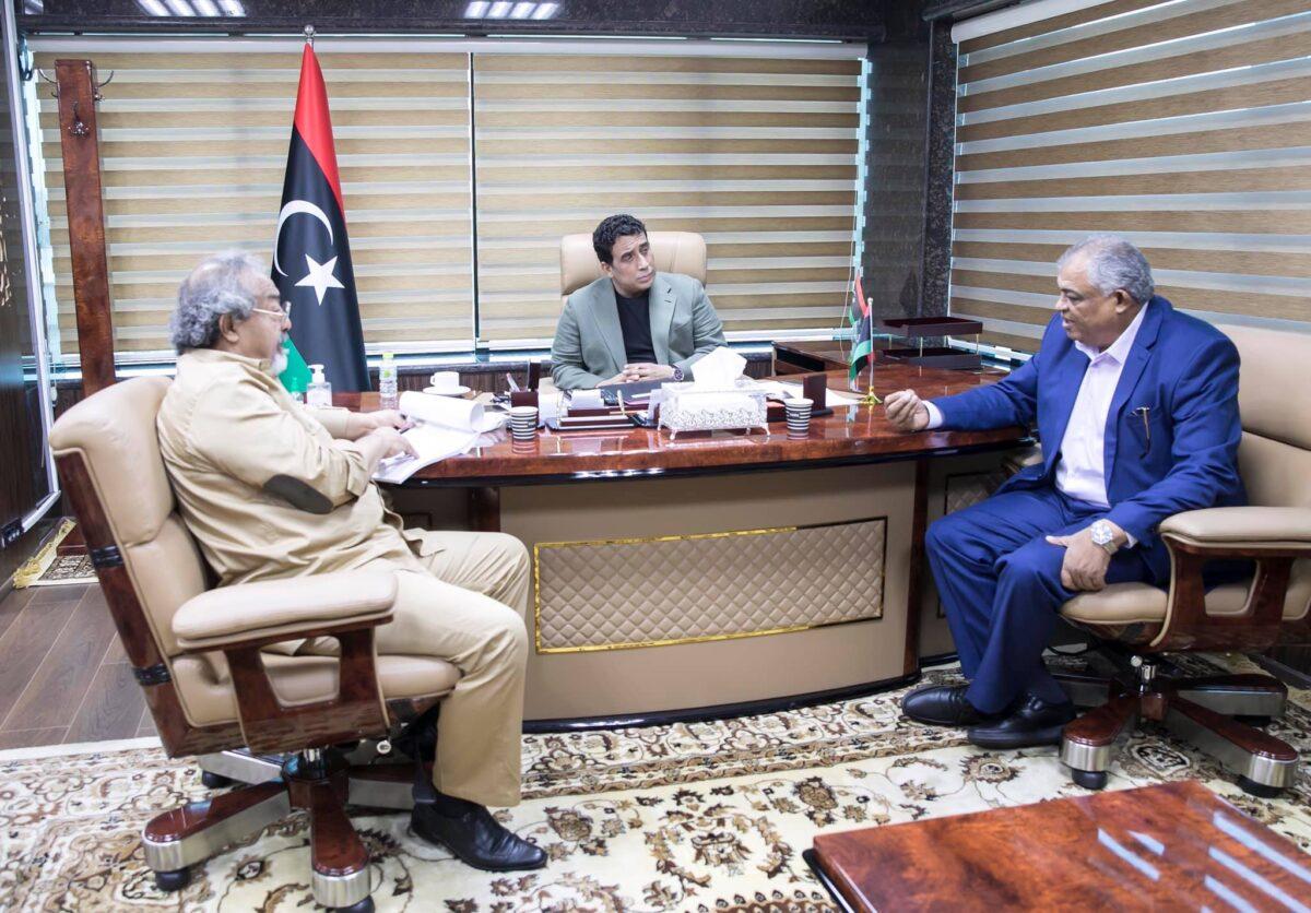 «المنفي» يبحث مع نائب رئيس الحكومة عدداً من الملفات