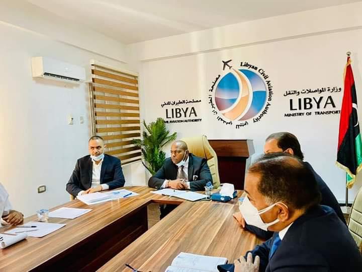 اجتماع لمناقشة آليات رفع الحظر عن المطارات الليبية والطيران الليبي