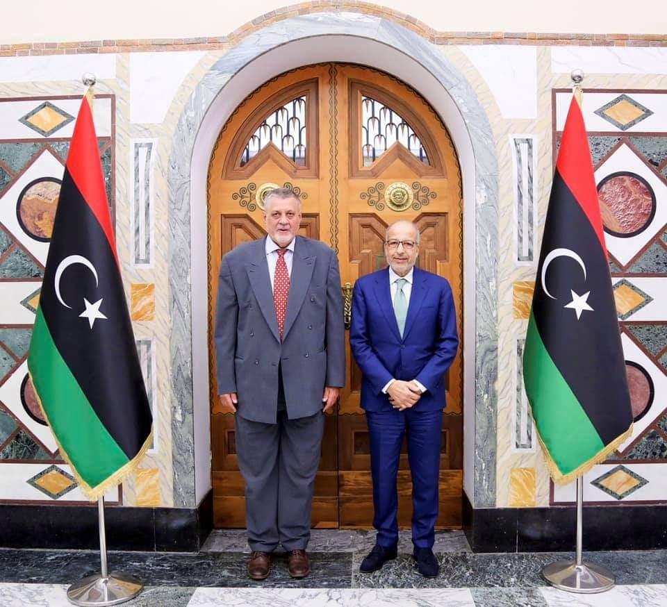 ليبيا المركزي يبحث مع البعثة الأممية جهود توحيد المصرف