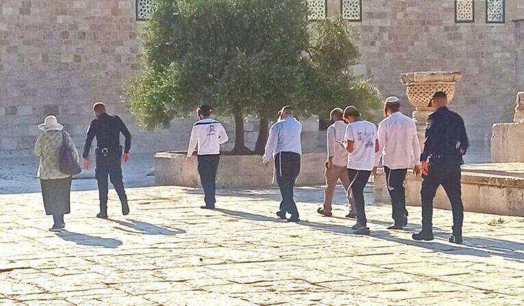 مستوطنون يقتحمون باحات المسجد الأقصى المُبارك