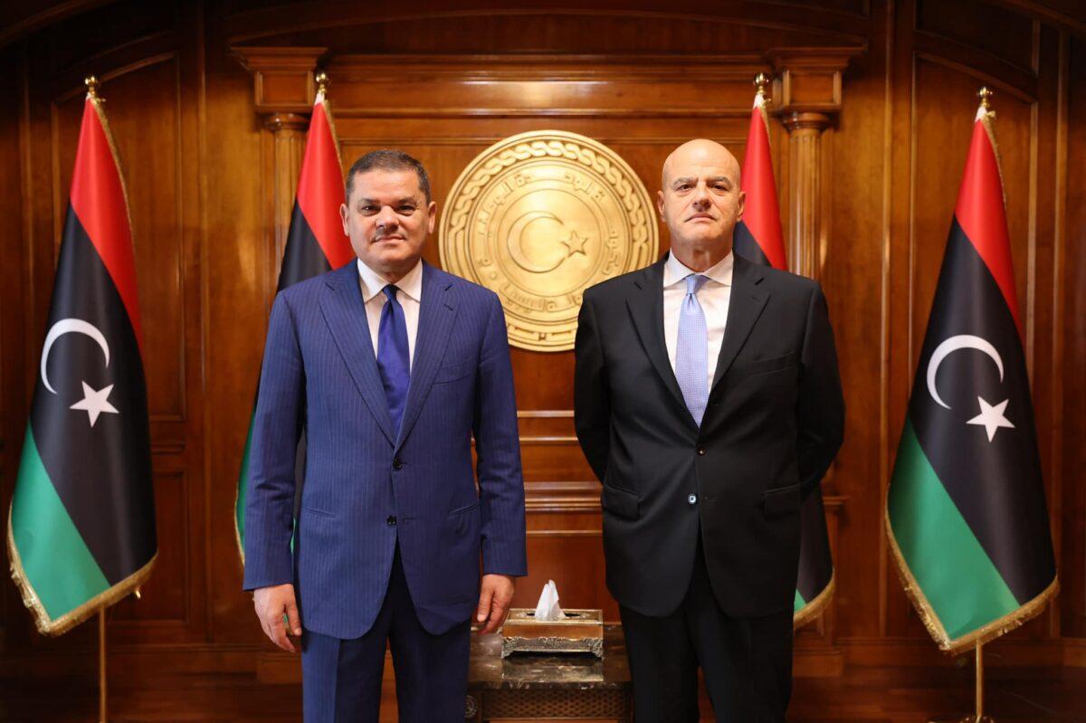 رئيس الحكومة يبحث تعزيز نشاط «إيني» الإيطالية في ليبيا