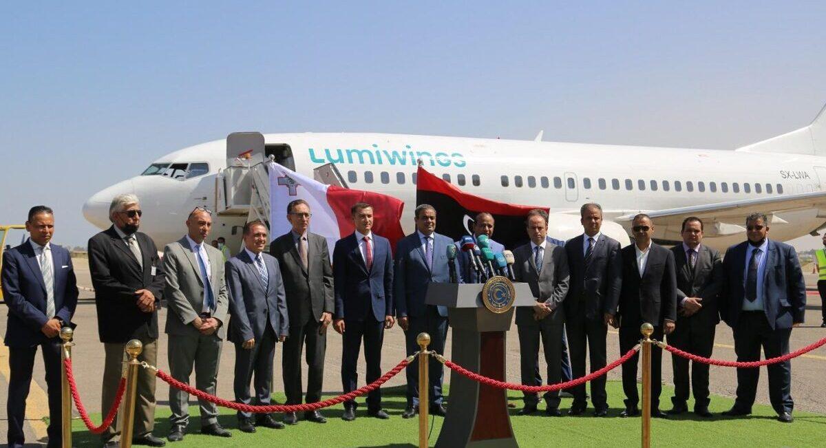 استئناف الرحلات الجوية بين ليبيا ومالطا
